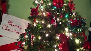 Christmas Tree Decorations Ideas 2014 by Green And Red Christmas Tree 2014 Youtube
