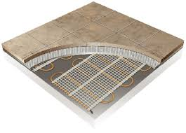 thermotile radiant heating for ceramic tile