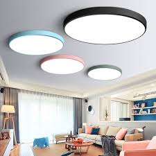 Ultra Thin Modern LED Ceiling Light Round Simple Decoration Fixtures Study Dining Room Balcony Bedroom Living