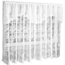 lace curtain panels with attached valance curtain ideas home blog