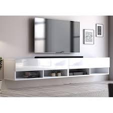 tv unterteil tv lowboard epsom in weiß hochglanz hängend