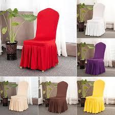 großhandel spandex stretch hussen elastisches tuch gekräuselter waschbar lange solid color stuhl sitzabdeckung für esszimmer hochzeiten bankett