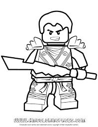 Ninjago Jay KX Holding Elemental Weapon Coloring Page