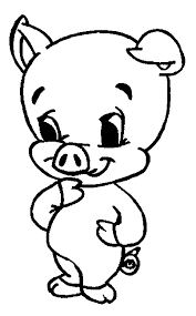 dessin a imprimer coloriage dans la ferme cochons 4 à colorier allofamille