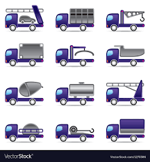 Different Types Of Trucks Royalty Free Vector Image