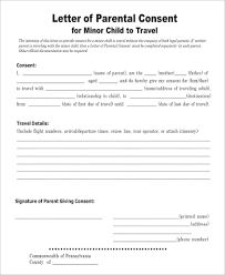 Sample Child Travel Consent Form 5 Examples in Word PDF