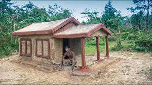 100 The Leaf House Primitive Technology Build Clay House With Leaf And Wood Country Side Peoples Home