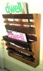 wood wall magazine rack foter