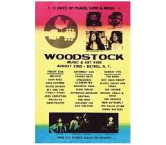 Woodstock Lineup Poster Posters For Cheap Dorm Supplies Wall Decor