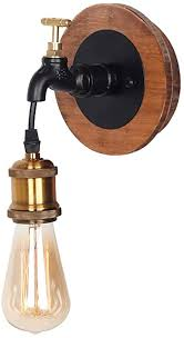 kmy lighting rustikale wandleuchte beleuchtung der schwarzen