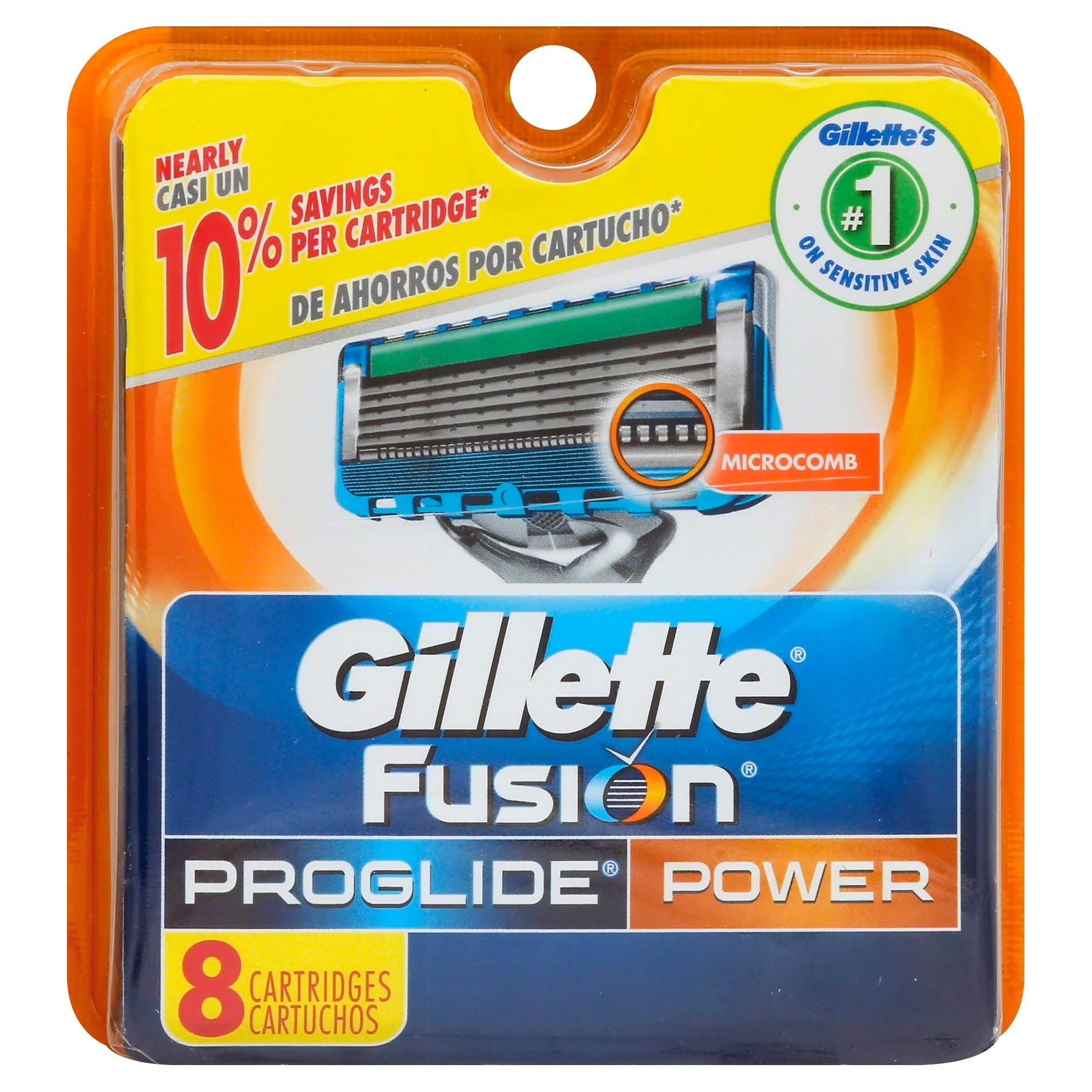 Gillette Fusion Proglide Power Cartridges - 8ct