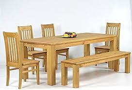 sitzgruppe garnitur mit esstisch 160x90cm 4 stühle klassic