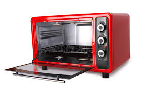 Download Kitchen Red Oven Stock Photo Image Of Microwave Empty