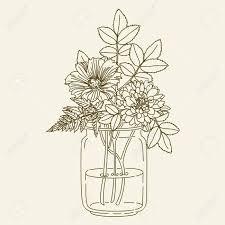 Coloriage Bouquet De Fleurs Dans Un Vase Populaire ã £18 Tªtes Soie