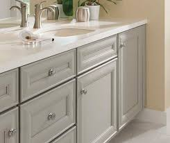 gray cabinets in casual bathroom cabinetry
