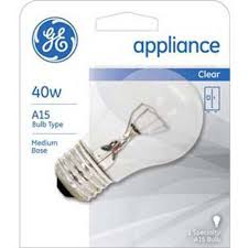 ge clear incandescent appliance 40 watt a15 12 bulbs walmart