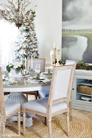 Neutral Rustic Glam Christmas Dining Room Rusticglam Rusticdecor Christmastable Neutralchristmas