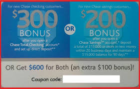 Chase $600 Bonus Offer EXP 09/28/2019 ($300 Checking $200 ... Roundup Of Bank Bonuses 750 At Huntington 200 From Chase Total Checking Coupon Code 100 And Account Review Expired Targeting Some Ink Cardholders With 300 Brighton Park Community Bonus 300 Promotion Palisades Credit Union Referral 50 New Is It A Trap Offering Just To Open Checking Promo Codes 350 500 625 Business Get With 600 And Savings Accounts Handcurated List The Best Sign Up In 2019 Promotions Virginia