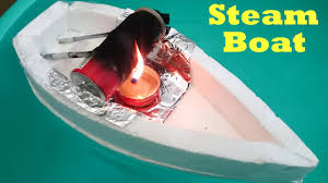 how to make a steam boat using bottle at home youtube