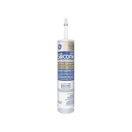 GE Silicone Clear Window and Door Sealant - 10.1-oz. GE