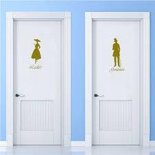 herren damen wc wc badezimmer tür zeichen vinyl wand aufkleber wohnkultur wand kunst decals haus dekoration poster dd0785