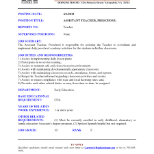 Resume For Assistant Teacher Teacher Assistant Resume Sample