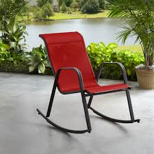 Essential Garden Bartlett Sling Rocking Chair - Red Patio Chairs Colorful Rocking Along A Covered Breezeway At Resort Eames Chair Rar Red Jack Post Childrens Rocker Amazoncom Henryy Rocking Chair Lazy Lunch Small Childs Isolated Stock Photo Image By Billiani In Lacquered Wood Chairs Oknwscom Midcentury Modern Charles For Herman Miller Design Form Oak