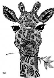 The Site May Not Be In English But Creations Are Amazing Mcdid Has Several Coloring Printables Like This Giraffe And Hello Spring Print