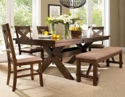 Roundhill Furniture 6 Piece Karven Solid Wood Dining Set With Table 4 Chairs And