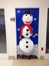 Unique Christmas Office Door Decorating Idea by Unusual Design Ideas Winter Wonderland Office Decorating Ideas