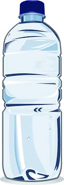 Plastic Water Bottle Black And White Clipart