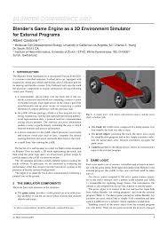 PDF) Blender's Game Engine As A 3D Environment Simulator For ...