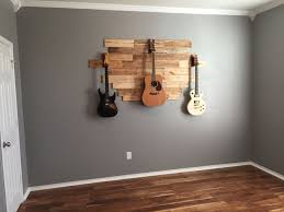 DIY Pallet Wood Hanging Guitar Display Weekend Project For Hubby And Me