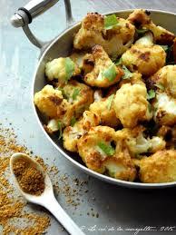 cuisiner le choux fleur chou fleur rôti au curry indien et au beurre d amande de