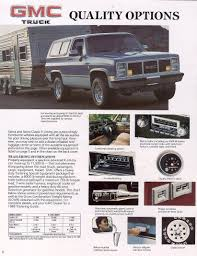 Car Brochures - 1986 Chevrolet And GMC Truck Brochures / 1986 GMC ...