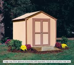 8x8 Storage Shed Plans Free Download by Amazon Com Handy Home Products Kingston Shed Kit 8 By 8 Feet