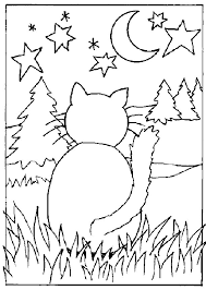 Unique Cats Coloring Page 62 On Line Drawings With