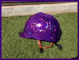 Mythbusters Christmas Tree Vodka by Metallic Holographic Purple English Horse Riding Equestrian Helmet