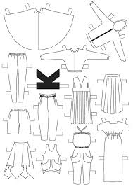 Cut Out Paper Dolls Holding Hands Couture Doll Clothing Template