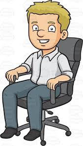 A Man Sitting In His fice Chair