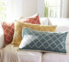 Roz Crewel Embroidered Lumbar Pillow Cover