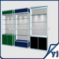 2014 fashionable aluminium glass kiosk cabinets wall mounted led
