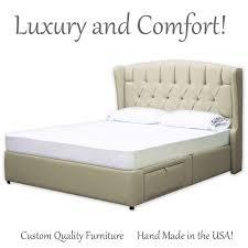 bedroom tufted sleigh bed upholstered bed frame jcpenney beds