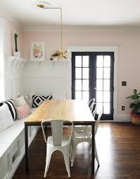 Gorgeous Dining Room Banquette Plus Built In Hutch The Paneled Board And Batten Below
