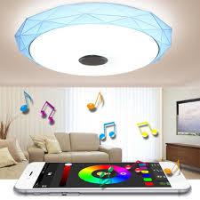 sunnyme 48w bluetooth deckenleuchte led rgb deckenle farbwechsel dimmbar app steuerung moderne leuchte für wohnzimmer kinderzimmer schlafzimmer