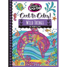 CRA Z ART Reg Shimmer N Sparkle Trade COOL TO COLORTM WILD THINGS COLORING BOOK