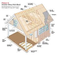 Floor Joist Spacing Shed by The Double Duty Pub Shed U2013 The Family Handyman