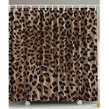 amazon com bathroom accessories leopard print sexy shower curtain