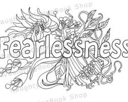 Fearlessness Coloring Page Law Of Attraction Positive Vibes Inspirational Quote Motivational