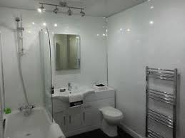 Bathroom Wall Cladding Materials by 6 White Sparkle Gloss Plastic Cladding Panels Bathroom Walls Pvc